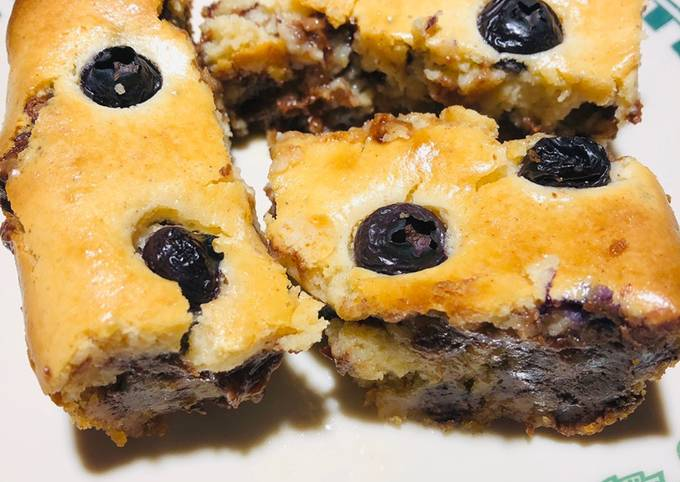 How to Prepare Favorite Chocolate 🍫 Chip / Blueberry Cookie 🍪 Dough Cheesecake