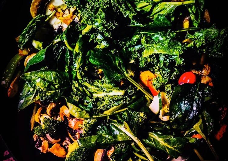Kale & Spinach Stir Fry