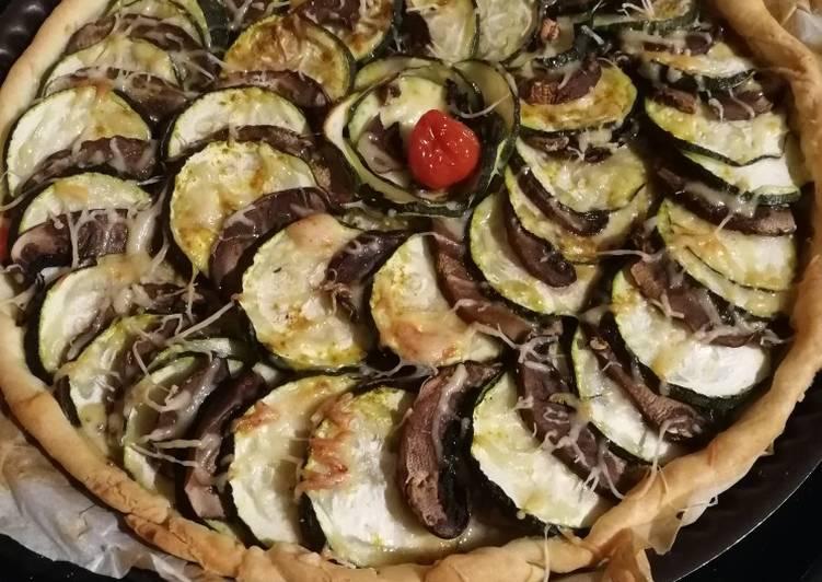 Tarte poulet/courgette