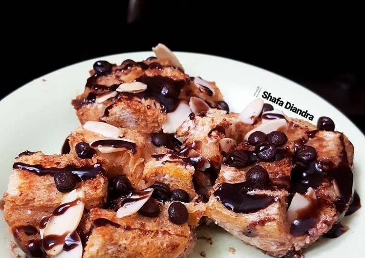 Chocolate Almond Bread Pudding #dessert 🇺🇸