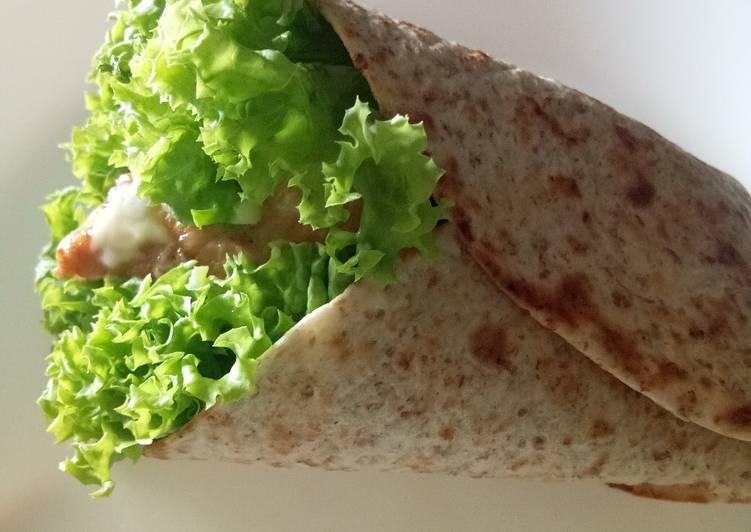 Resepi:  Wrap Ayam Lada Hitam  Terbaru