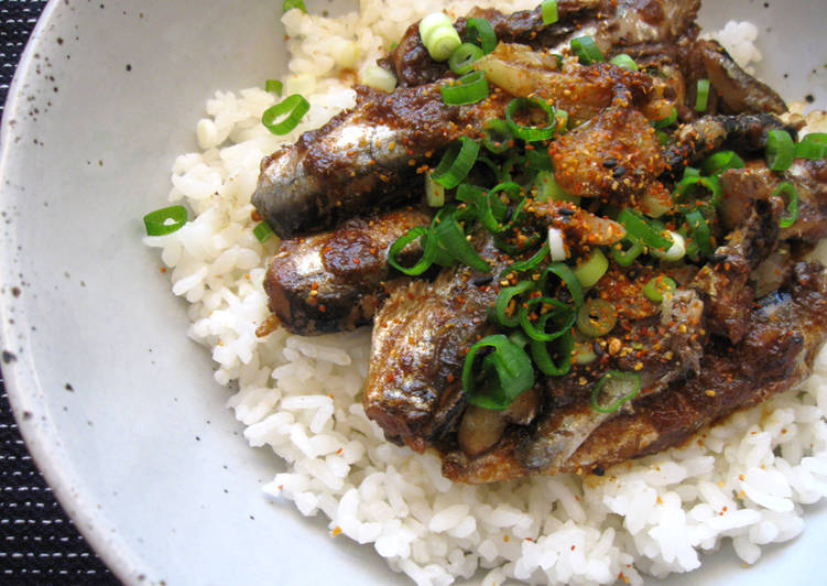 Garlic Sardines Rice Bowl