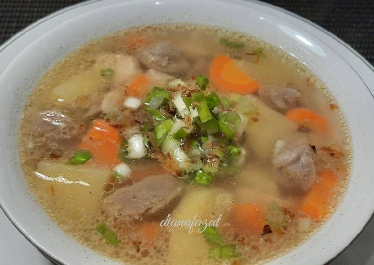 Sup Ayam Bakso Mudah, Cepat dan Praktis