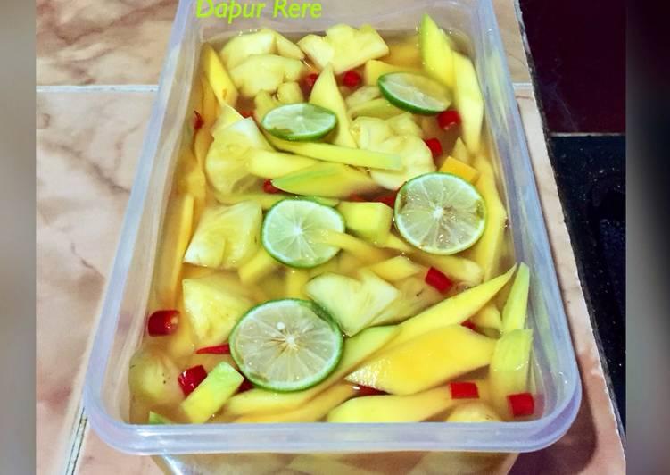 Asinan mangga mix nanas