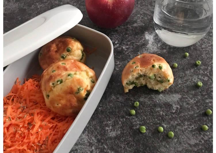 Comment Servir Muffin salé petits pois & carottes