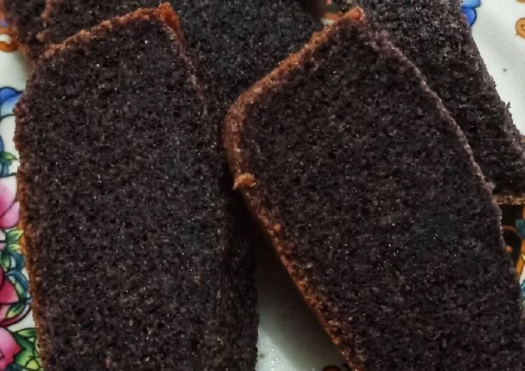 resep menyajikan Bolu Ketan Hitam - Sajian Dapur Bunda