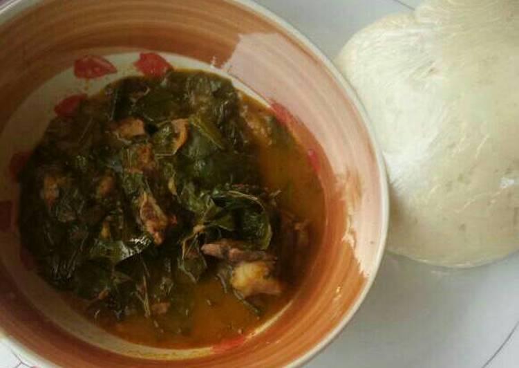 5 Minute Recipe of Diet Perfect Oha soup and semovita