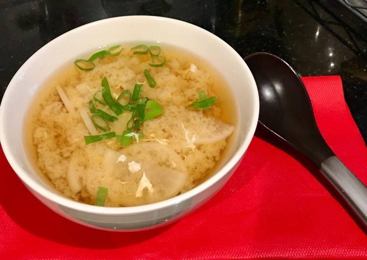 Daikon miso siru /sop lobak miso
