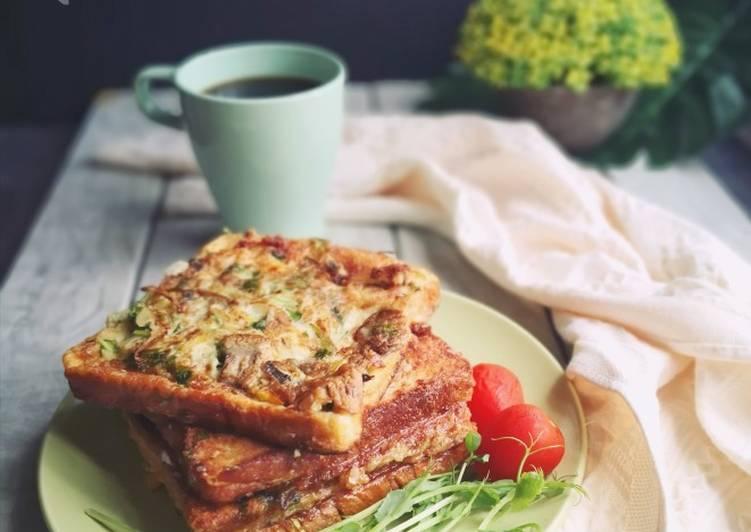 Resepi:  Roti Telur ala Piza  Dirumah