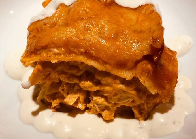 Buffalo Chicken 🐔 Corn 🌽 Tortilla Bake