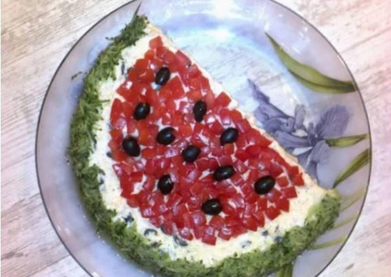 правильная салат арбузная долька с виноградом рецепт фото неканоническим