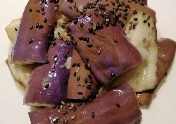 Eggplant with Black Sesame Seed
