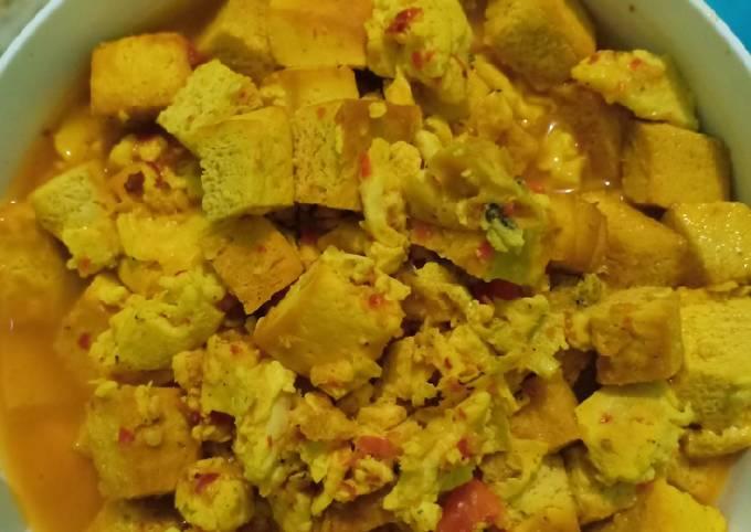 Diet/clean food Orek telur tahu kuning