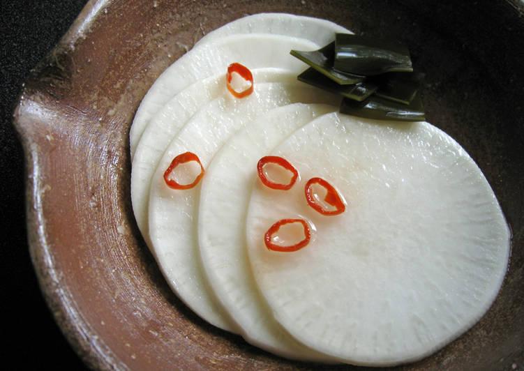 Recipe of Homemade Pickled Sliced Turnip