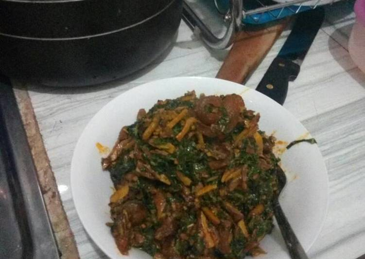 Recipe of Any-night-of-the-week Ugba with garden leaves