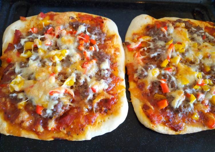 Recipe of Homemade Veggie meat pizza