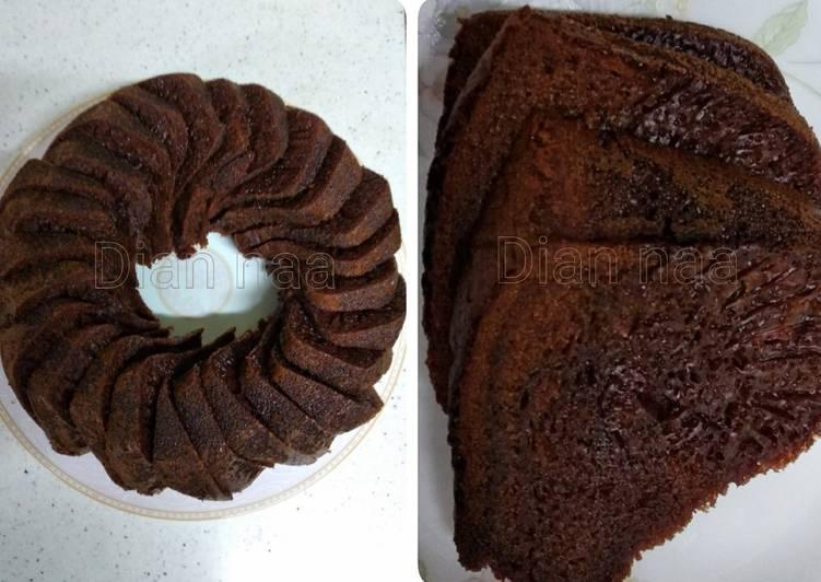 resep menyajikan Bolu sarang semut (karamel) - Sajian Dapur Bunda