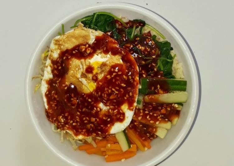 Healthy Korean Bibimbap