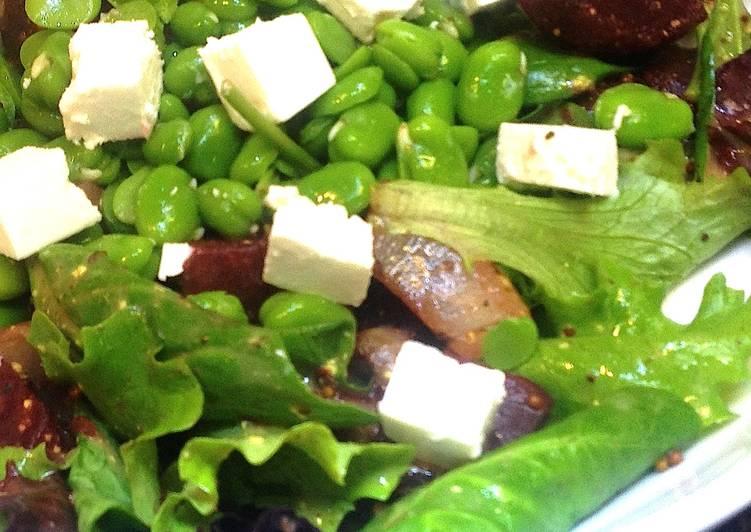 Salada De Fava e Beterraba