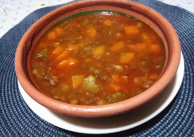 Soupe de lentilles aux légumes ❤