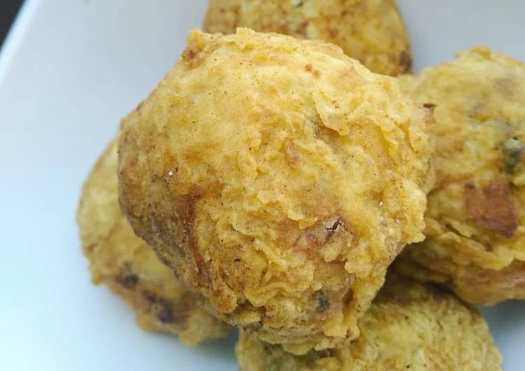 30 Minute Easiest Way to Make Cooking Delicious crispy sardine yamballs