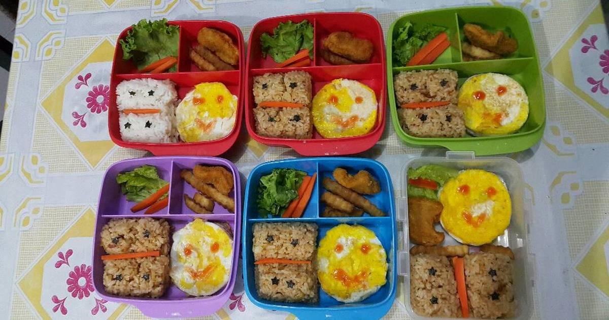 Resep Bekal Anak Bento Nasi Goreng Smile Oleh Bunda Dian
