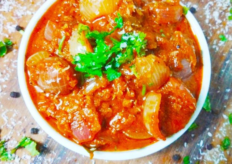 Steps to Make Super Quick Homemade Ulli theeyal (onion curry)