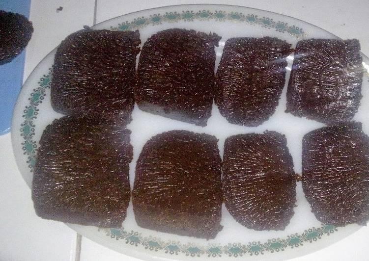 cara masak Caramel Cake / Sarang Semut Simpel Tanpa Mixer Dg Baking Pan - Sajian Dapur Bunda
