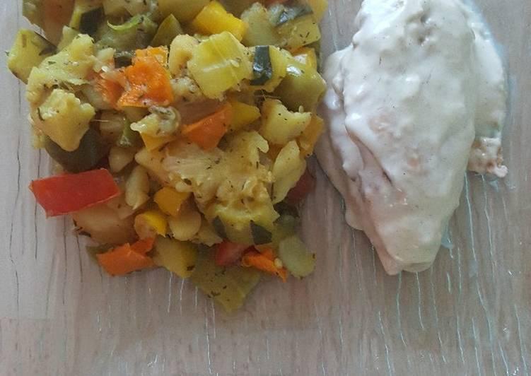 Recipe: Delicious Jardinière de courgettes, poivrons et pomme de terre au Cookeo