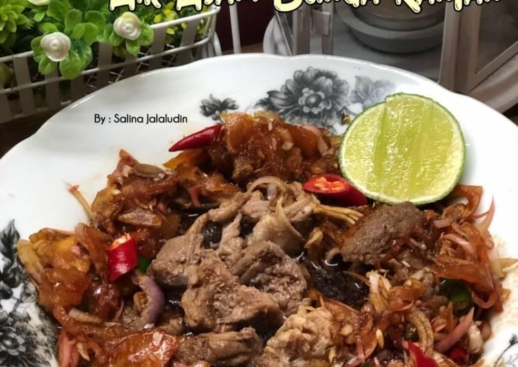 Daging Rebus. Air Asam Bunga Kantan - resepipouler.com