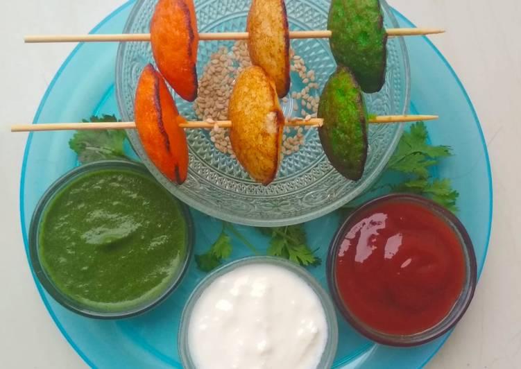 Tricolor Healthy Suji Hemispheres