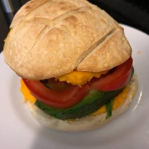Sándwich de palta y tomate, fast food saludable!!