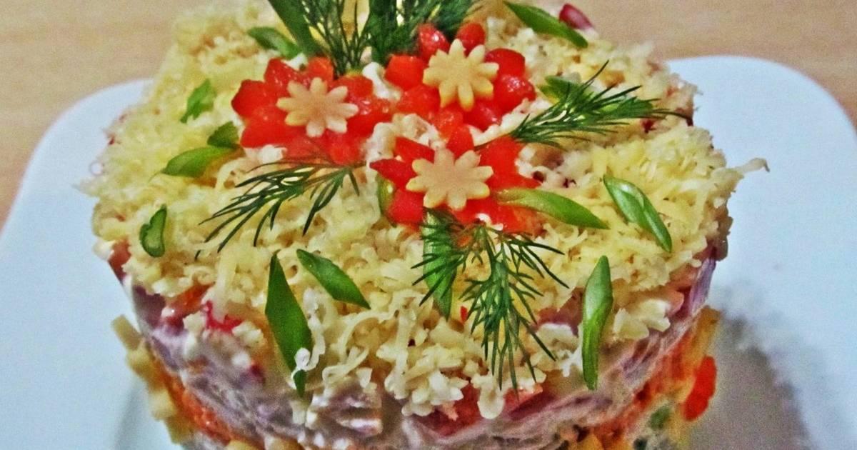 цунаки рецепт салата курочка ряба слоями с фото этом