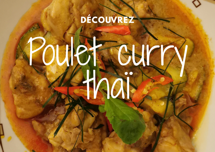 Poulet curry thaï