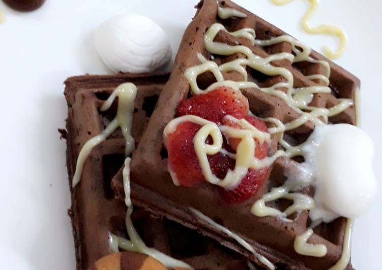 Luxury dessert meal CHOCOLATTO WAFFLES