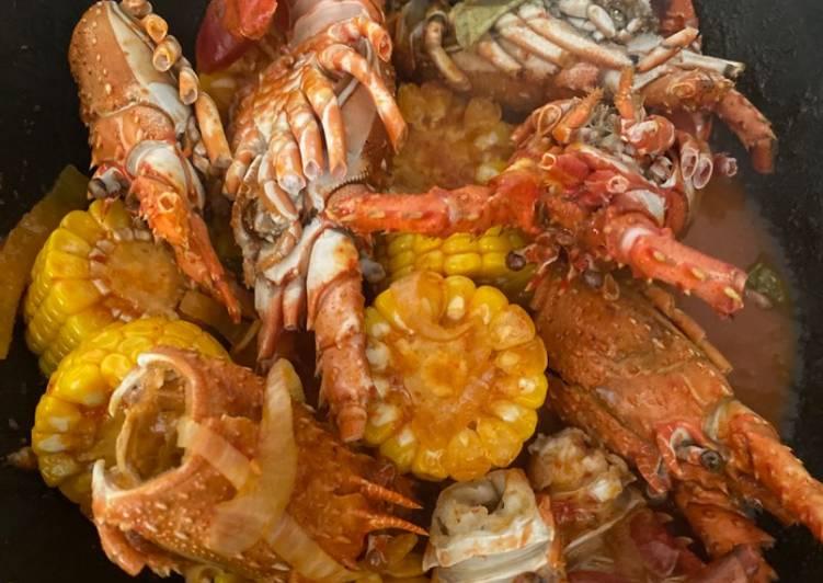 Lobster manis asam pedas