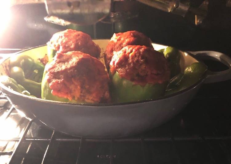 Easiest Way to Prepare Perfect Stuffed Green Peppers
