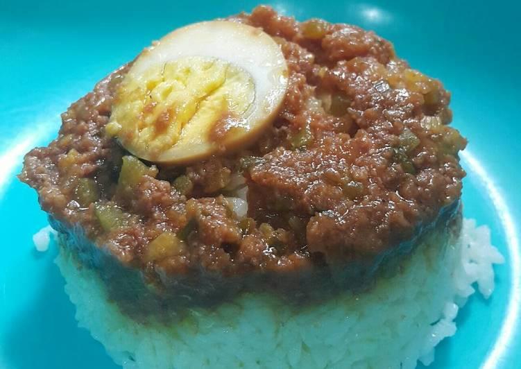 Resep Nasi Tim Kornet Ayam ( utk batita ) Terenak