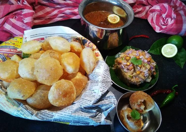 The Best Soft and Chewy Dinner Easy Quick Paani Puri(Kolkata Style)