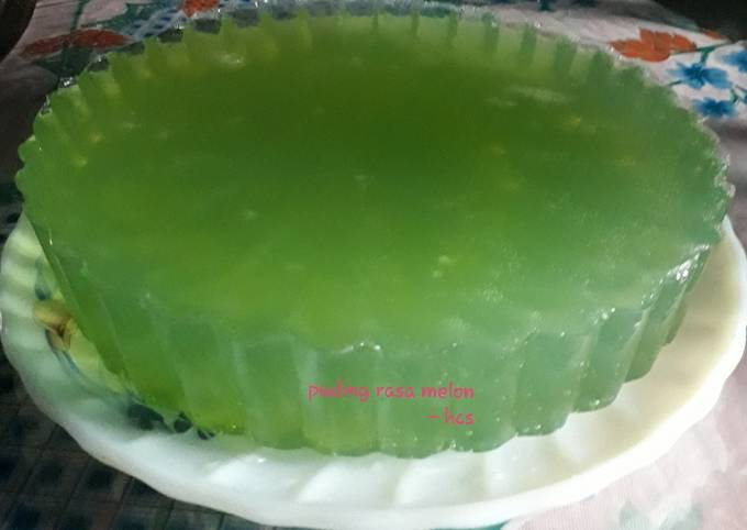 Puding rasa Melon