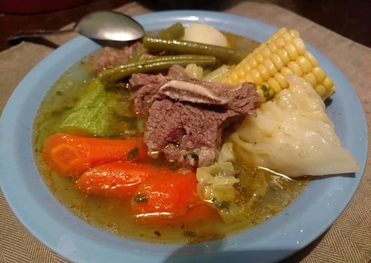 Cocido o caldo de res 👌 Receta de Jazania Bibriezca- Cookpad