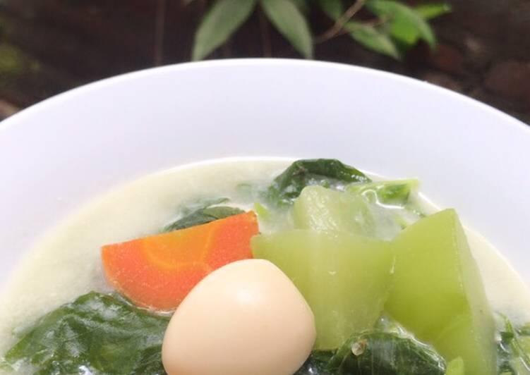 Resep Sayur Gurih Santan Bobor Bayam Lezat Dapur Menu Masakan