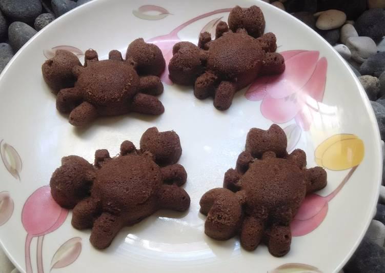 Bolu kukus nutrijel coklat kepiting 1st trial