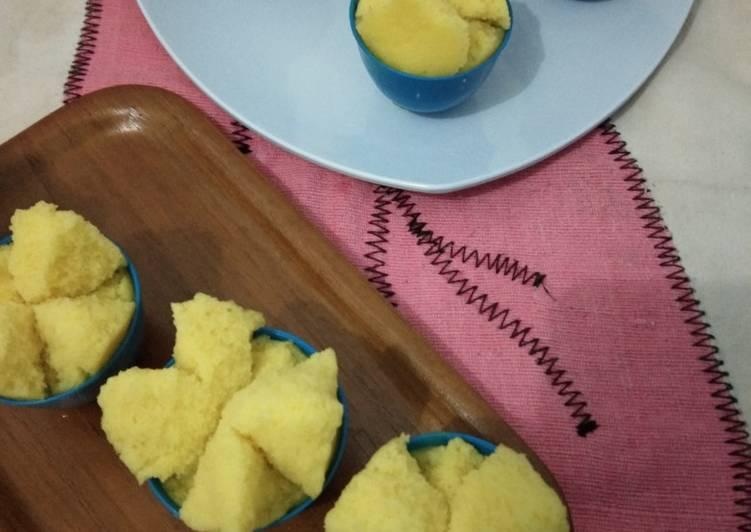 Kue mangkok mekar/ kue apem tepung beras