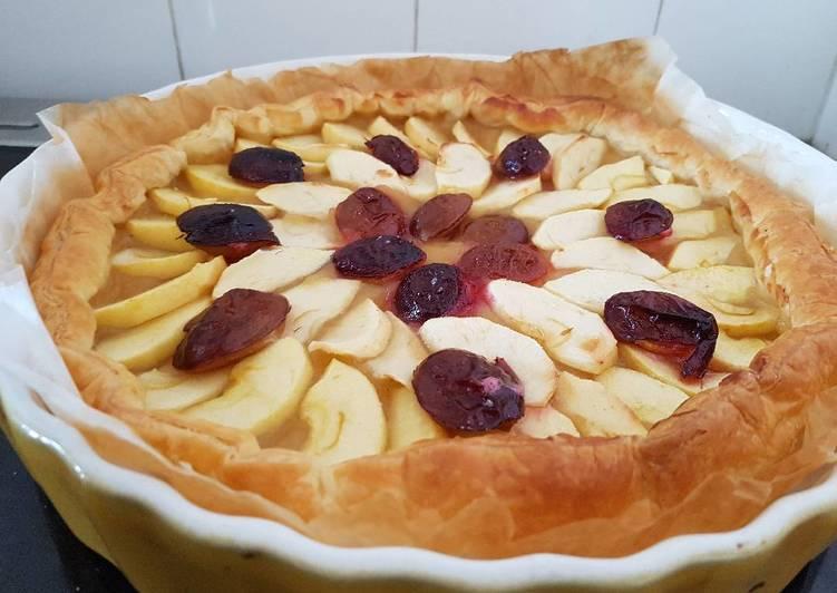 Recette De Tarte aux pommes et aux quetsches