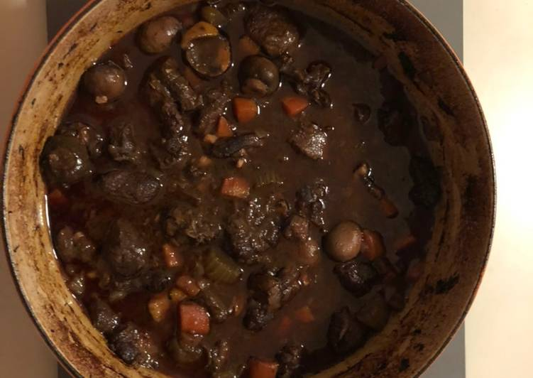 Venison and chestnut casserole