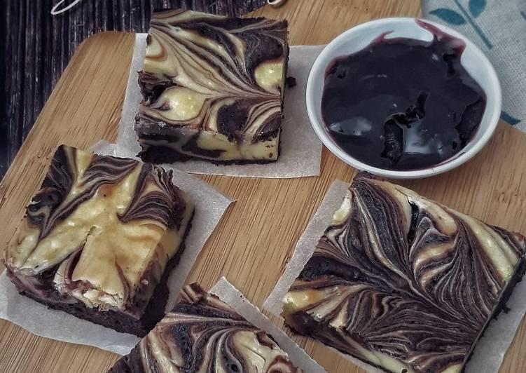 Blueberry Cheese Brownies #SyedMunawwar