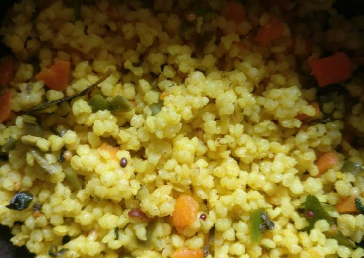 Steps to Make Favorite Foxtail millet veg upma