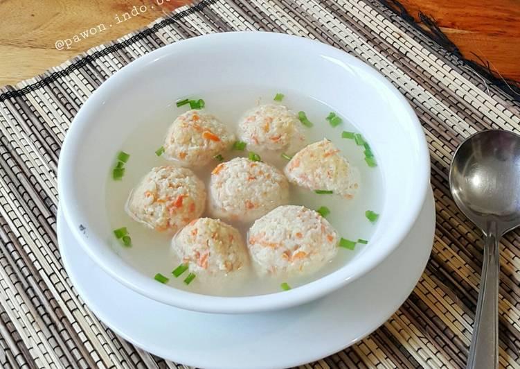 Resep Oatmeal Chicken Meatball (Bakso Ayam-Oatmeal) Yang Simple Enak
