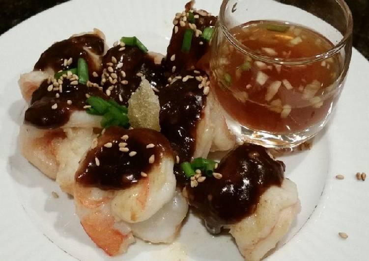 Brad's prawns in black bean and lemongrass sauce